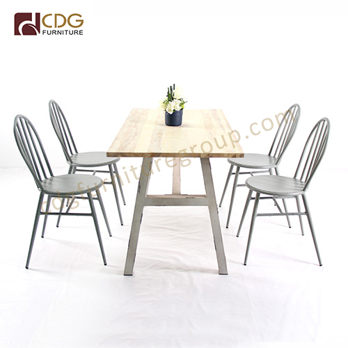 Commercial Wood Top Dining Table Set Cdg Furniture