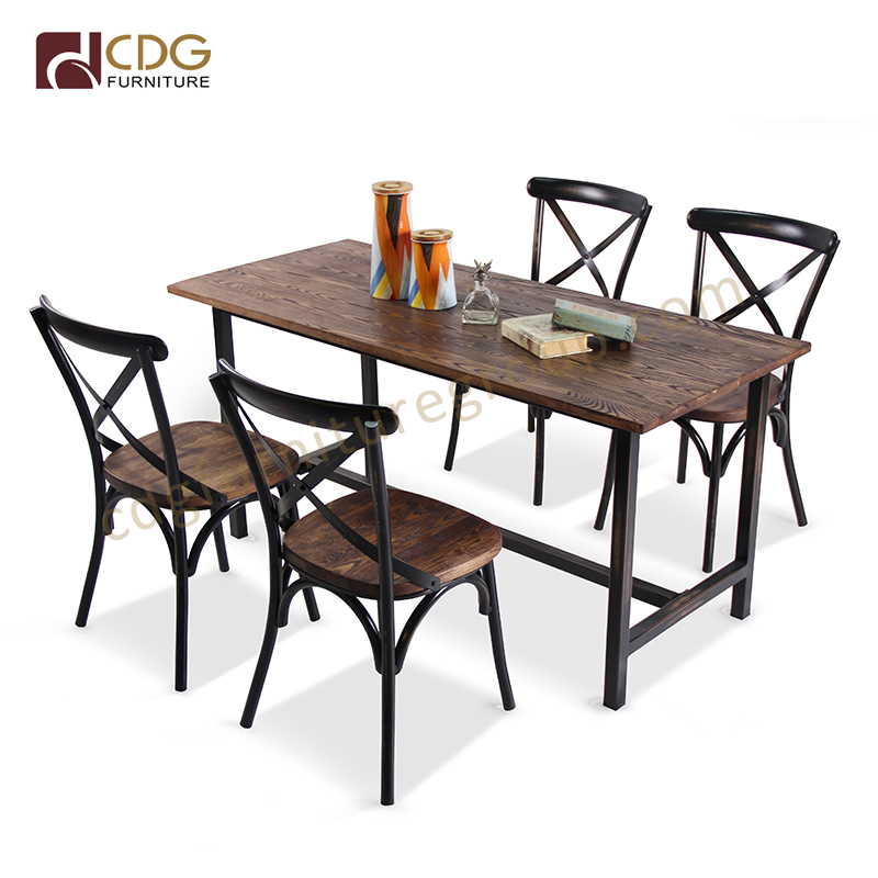 Modern Design Hand Made Antique Finish Industrial Restaurant Dining Furniture 8 Seater Dining Table 667dt Stw Re16070 Jiemei