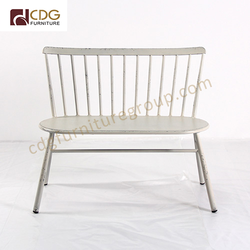 Prime 2 Seat French Retro Stacking Metal Bench Outdoor Lounge Lamtechconsult Wood Chair Design Ideas Lamtechconsultcom