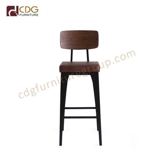 Stupendous High Back Bar Stools Heavy Industrial Style Vintage Metal Machost Co Dining Chair Design Ideas Machostcouk