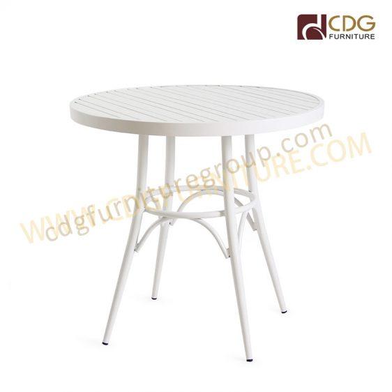 aluminium round table