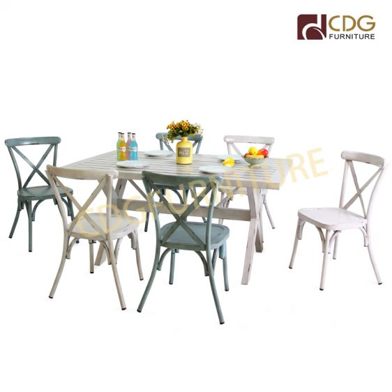 Popular Fast Food Restaurant Outdoor Furniture Coffee Shop Bistro Tables And Chairs For Sale 657dt B Alu Re16095 Jiemei