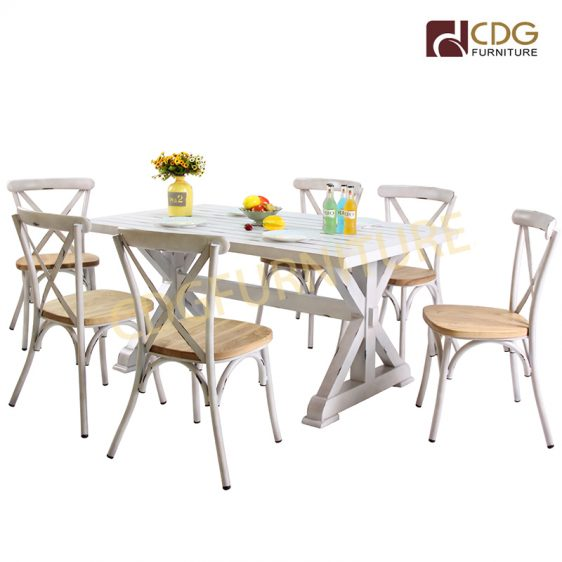Factory Price French Style Dining Furniture Kitchen Garden Square Table Set Tables And Chairs For Events 731dt Alu Jiemei