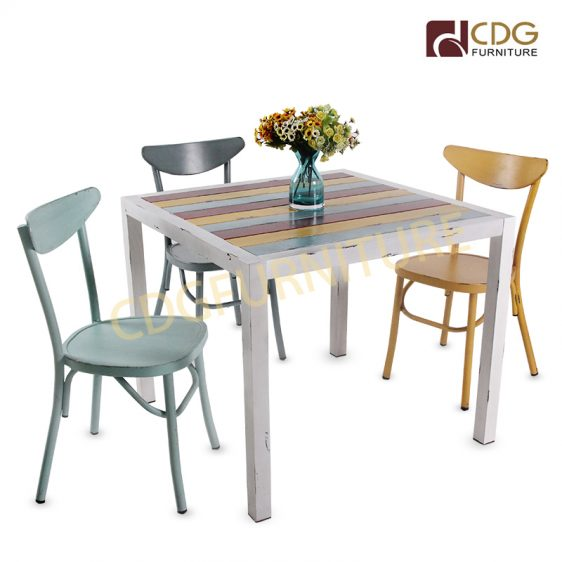 French Outdoor Garden Furniture Aluminum Cafe Chairs And Table Set Modern Garden Outdoor Dining Table Set 780dt Alu Sq90 Jiemei