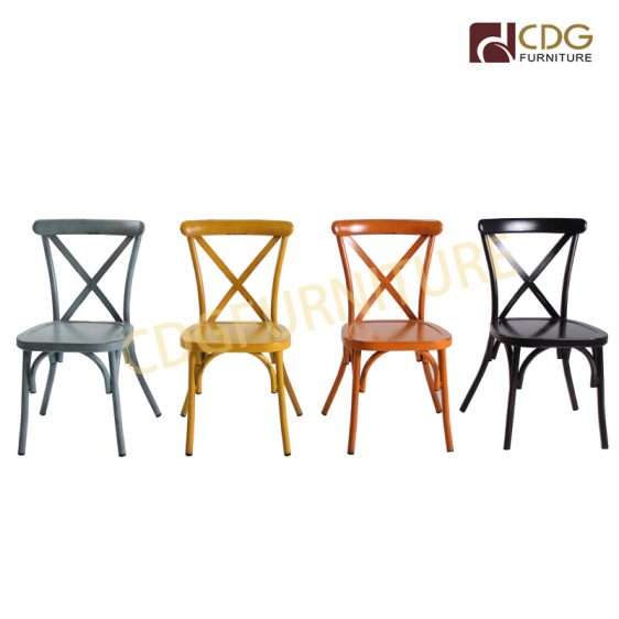 Awesome Durable Vintage Aluminum X Cross Back Chair Nordic Dinner Ibusinesslaw Wood Chair Design Ideas Ibusinesslaworg