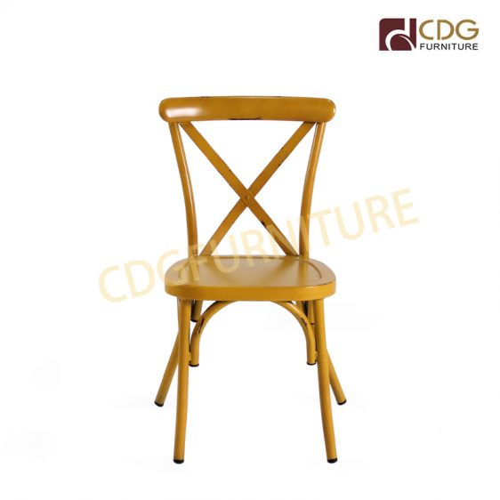 Fantastic Durable Vintage Aluminum X Cross Back Chair Nordic Dinner Ibusinesslaw Wood Chair Design Ideas Ibusinesslaworg