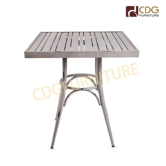 Retro Steel Bistro Dining Table Garden Furniture Vintage