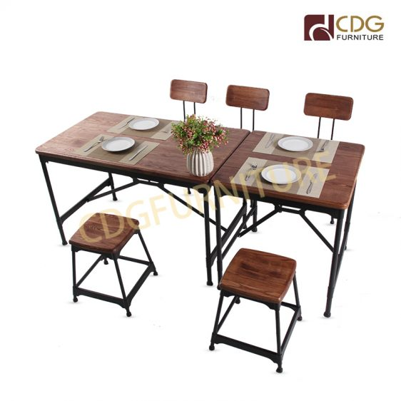 Popular Hot Sale Solid Wood Top Table Customized Size
