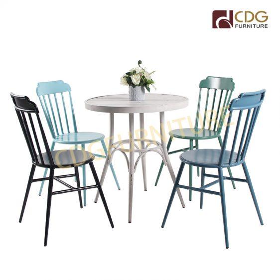 Industrial Style Antique Vintage Dining Room Chair Metal Aluminium