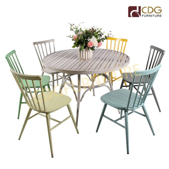 High Quality Power Coating Outdoor Round Table Dining Garden Furniture Dining Table Set Furniture Manufacturers In China Metal Table 680dt Alu Ro70 Jiemei