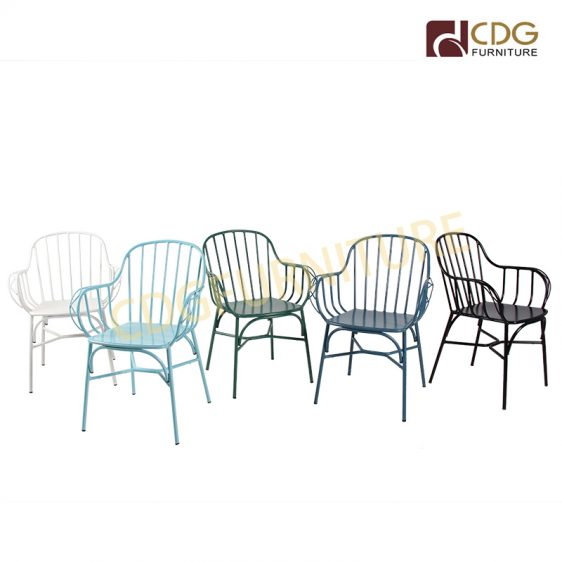 Stackable Metal Wire Chair French Style