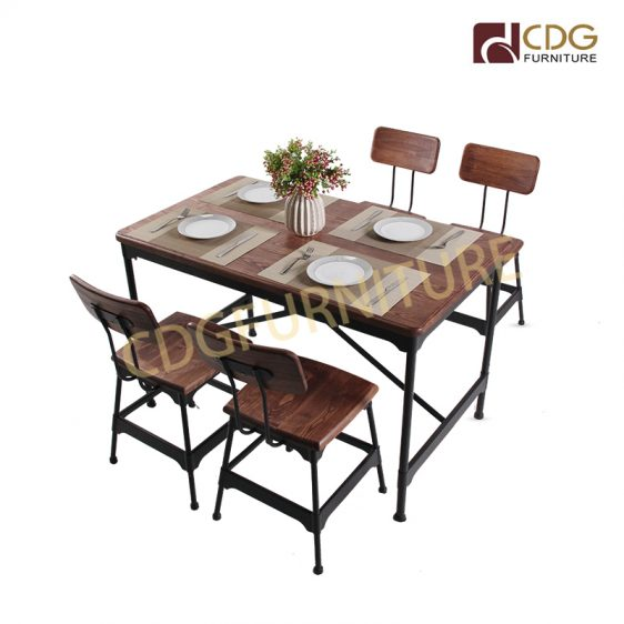 Best Er Dining Table Solid Wood, Wood And Iron Dining Room Set