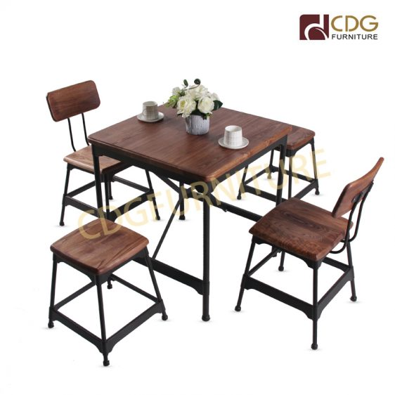 Hotel Living Room Furniture Dining Table With Metal Frame ...