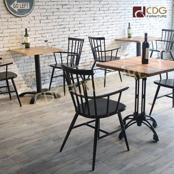 Latest Leisure European Restaurant Cafe Shop Not Folding Top Sale 5 Pieces Modern Coffee Chair Table Set 738m H45 Alu Jiemei