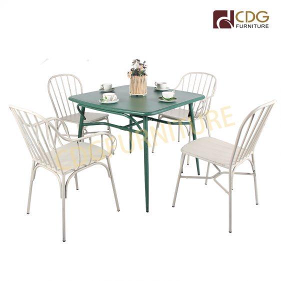 European Hot Sale Modern Design Comfortable Armrest Restaurant Garden Coffee Shop Dining Nordic Chair 763ms H45 Alu St Jiemei